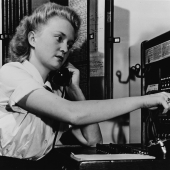 Seaman 2nd Class 'Mans' the Switchboard