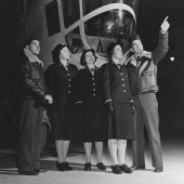 WAVES Officers Receive Tour of Blimp Hangar