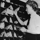 WAVES Postal Worker Distributes Mail