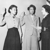 Frances Wills and Harriet Ida Pickens are Sworn In