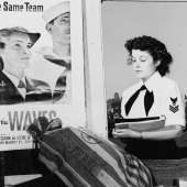 WAVES Yeoman Handles Registered Mail at Fleet Post Office