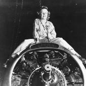 Aviation Machinist's Mate Repairing Naval Aircraft