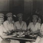 Women Marines Having Cocktails in Washington, DC