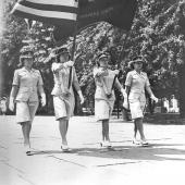 Women Marines Color Guard