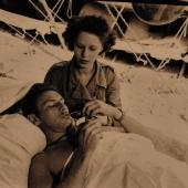 Navy Nurse Treats Injured Marine in Okinawa