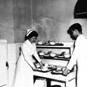 Navy Nurse in the Kitchen on the USS Relief