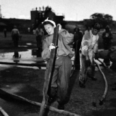 Navy Nurse at Firefighting School in Pearl Harbor