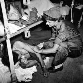 Flight Nurse Gives Patient Penicillin Injection