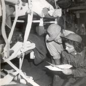 Flight Nurse Jane Kendeigh on Trip from Iwo Jima