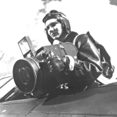 Woman Marine Aerial Photographer Aims Camera