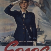 SPARS Officer Saluting WWII Recruiting Poster