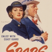 Make a Date with Uncle Sam SPARS Recruiting Poster