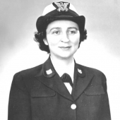 WWII Coast Guard SPARS Officer in Dress Blues