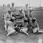 WACs Relaxing After a Day's Work at Camp Atterbury