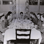 POW Navy Nurses Have First Meal After Release