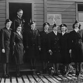 Nurses at a WWII Naval Hospital in Alaska