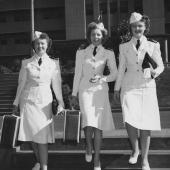 Three Navy Nurses at Pearl Harbor Naval Hospital