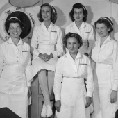 Nurses Back from Overseas on USS Refuge