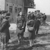 WACs Wait for Planes Returning from Mission