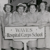 WWII WAVES at Hospital Corps School