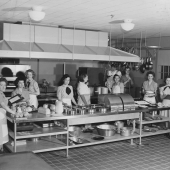 WAVES and Others in Naval Hospital Galley
