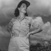 Army Flight Nurse in Bivouac Area in Oahu