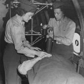 Flight Nurses Training at Bivouac Area in Hawaii