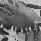 Army Nurses Christen a B-17 Flying Fortress