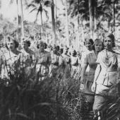 Army Nurses Marching Through Jungle
