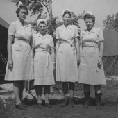 Four Army Nurses Stationed in Russia