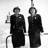 SPAR Cadets on Coast Guard Boat