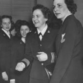 Mildred H. McAfee Meets With Other WAVES